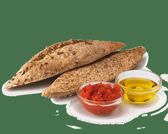 Pan Semillas Tostado con Tomate y Aceite
